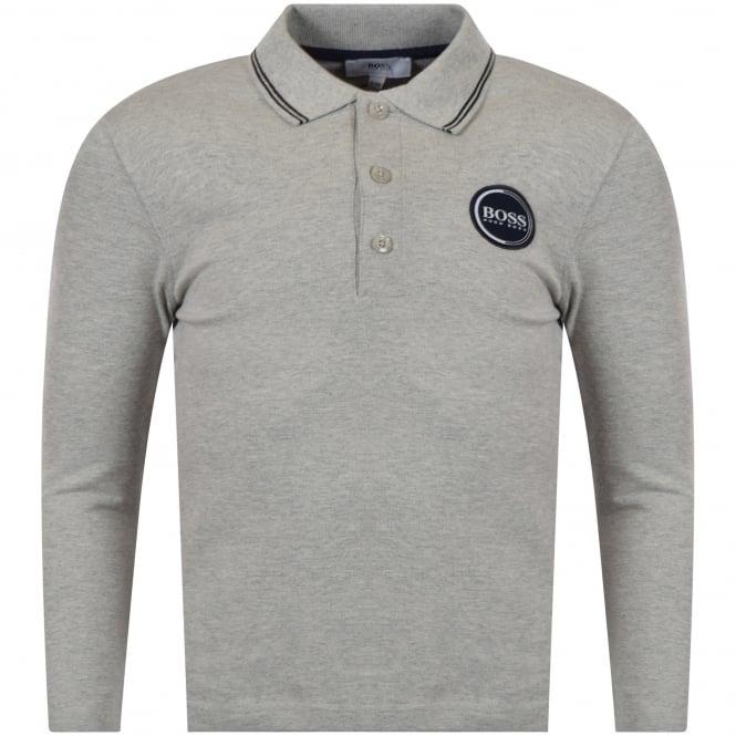c65846087 HUGO BOSS JUNIOR Hugo Boss Junior Light Grey Long Sleeve Polo Shirt ...