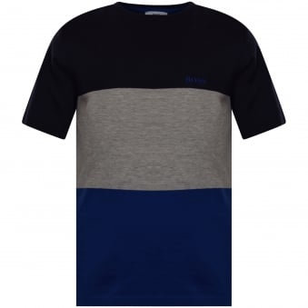 Hugo Boss Junior Navy/Grey Stripe T-Shirt