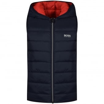 Hugo Boss Junior Navy/Red Reversible Gilet