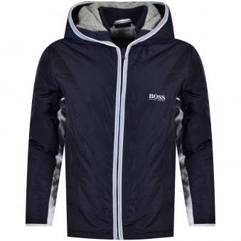 Hugo Boss Junior Navy/White Trim Logo Jacket