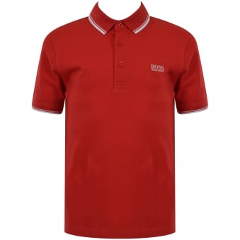 Hugo Boss Junior Red Logo Polo Shirt
