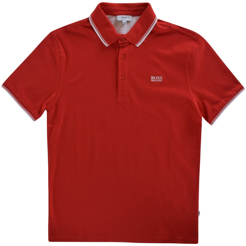 428b358fe HUGO BOSS JUNIOR Hugo Boss Junior Red Logo Polo Shirt - Junior from ...