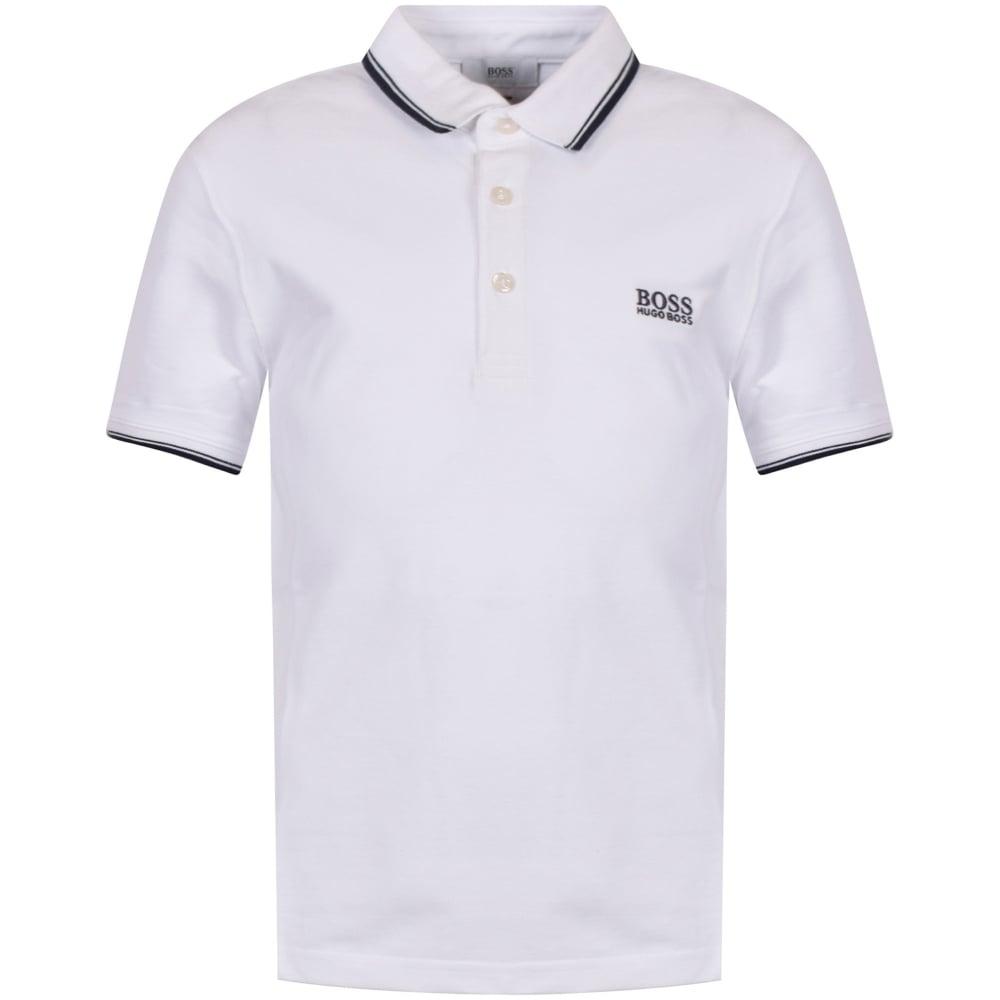376492427 HUGO BOSS JUNIOR Hugo Boss Junior White Logo Polo Shirt - Junior ...
