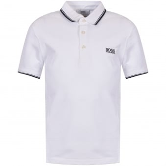 Hugo Boss Junior White Logo Polo Shirt