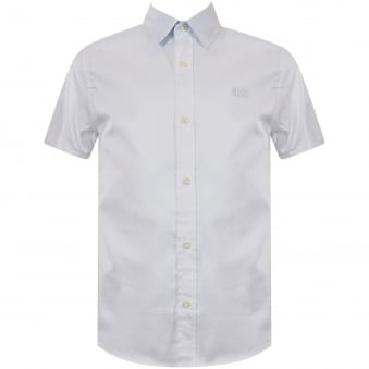 Hugo Boss Junior White Logo Short Sleeve Shirt
