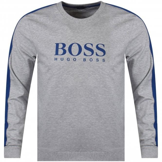 07c215bd5 BOSS Hugo Boss Medium Grey/Blue Detailing Sweatshirt - Department ...