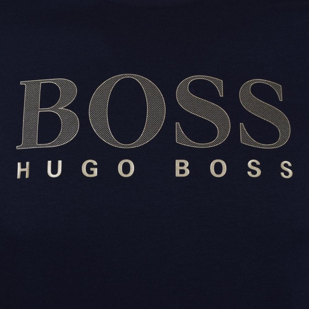 0ccdfc0d13 HUGO BOSS Hugo Boss Navy/Gold Detail Sweatshirt - Department from ...