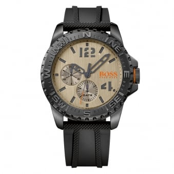 Hugo Boss Orange Black Compass Watch