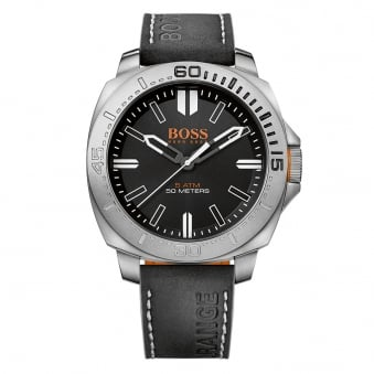 Hugo Boss Orange Black Logo Strap Watch