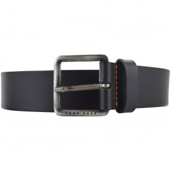 Hugo Boss Orange Black Matt Belt