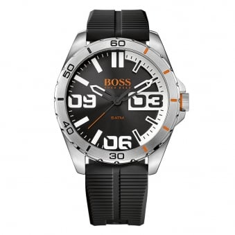 Hugo Boss Orange Black Rubber Strap Watch