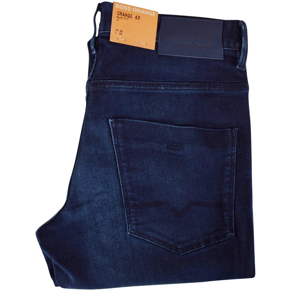 ac50f68c599f BOSS Hugo Boss Orange Dark Wash Slim Fit Jeans - Men from ...