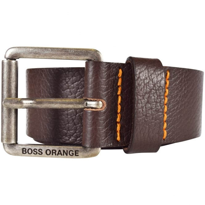 HUGO BOSS ORANGE Hugo Boss Accessories Dark Brown Leather Belt