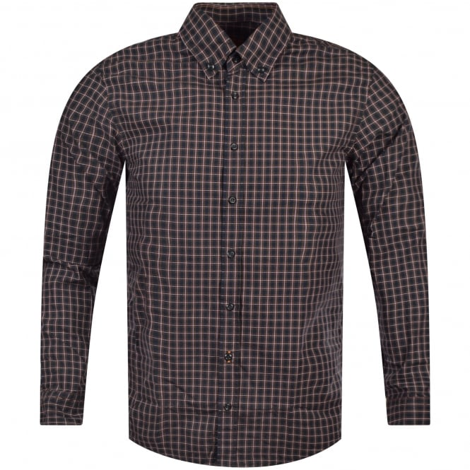 HUGO BOSS ORANGE Long Sleeve Checked Shirt