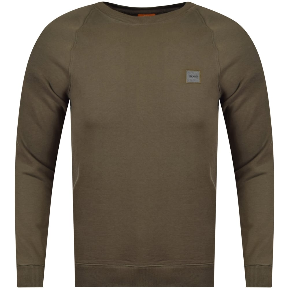 42566e0db3d BOSS Hugo Boss Orange Men s Wheel Khaki Sweatshirt - Men from ...
