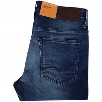 Hugo Boss Orange Mid Wash Tapered Fit Jeans