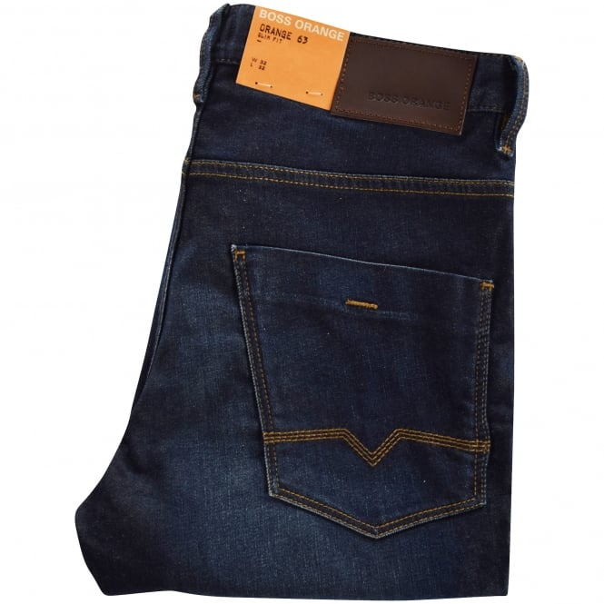 HUGO BOSS ORANGE Orange 63 Navy Slim Fit Denim Jeans
