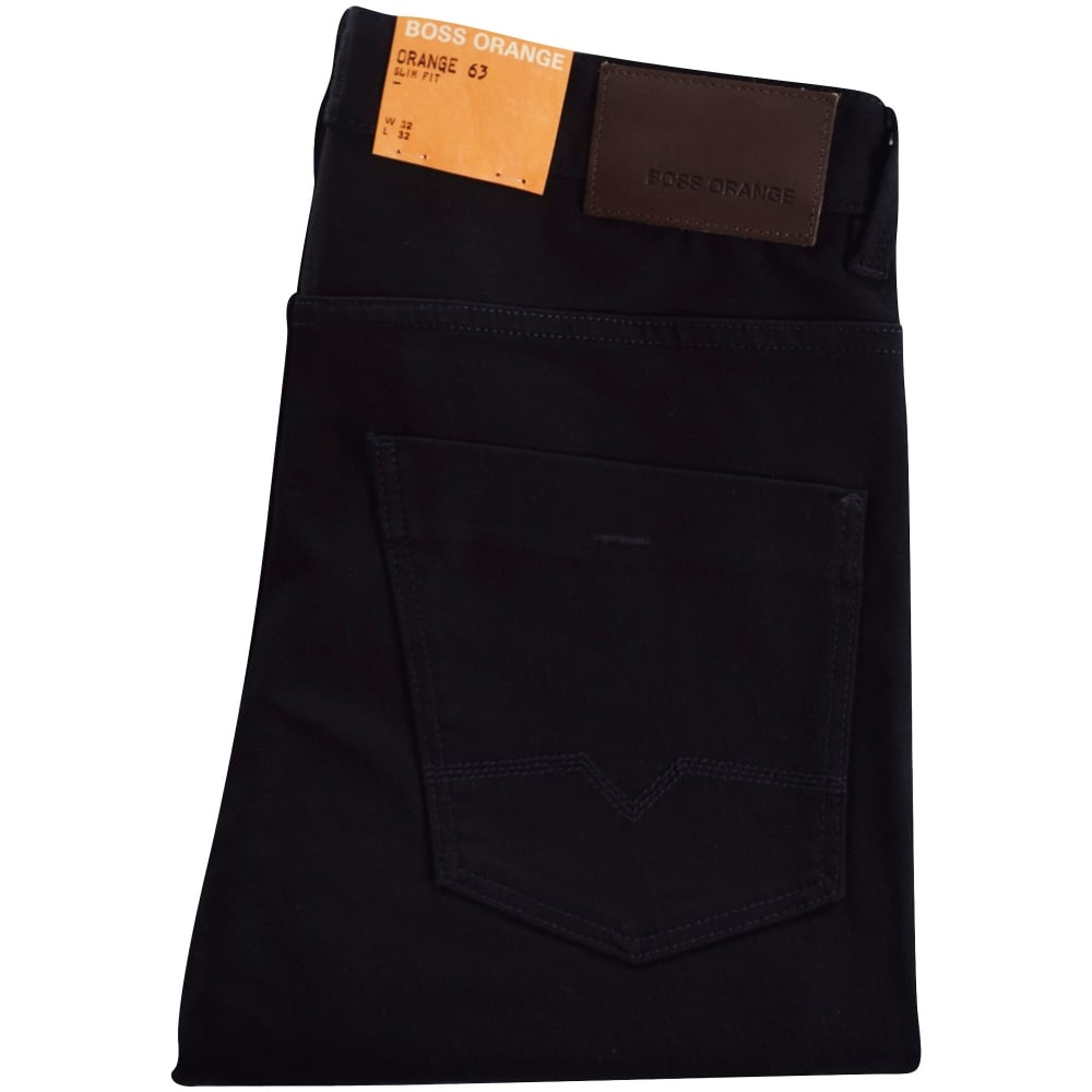 best aesthetic appearance compare price BOSS Orange 63 Slim Fit Jeans In Black