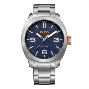 Hugo Boss Orange Silver/Blue Dial Watch