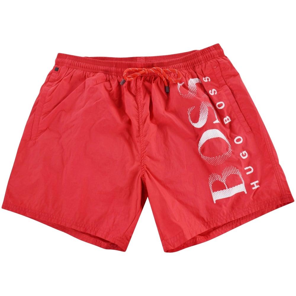 50131ff8a3 HUGO BOSS Hugo Boss Red/White Swim Shorts - Men from Brother2Brother UK