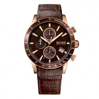 Hugo Boss Rose Gold/Brown Leather Watch