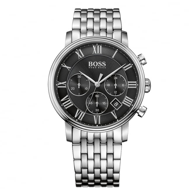 HUGO BOSS WATCHES Hugo Boss Silver Black Dial Watch