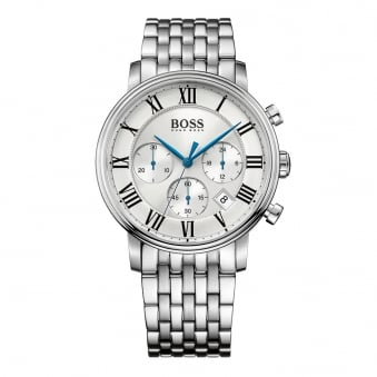Hugo Boss Silver/Blue Detail Watch