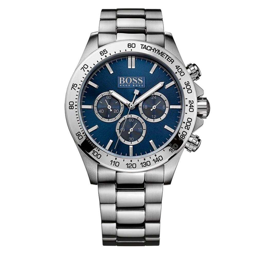 3ebc4f30114 HUGO BOSS WATCHES Hugo Boss Silver Blue Dial Watch - Men from ...