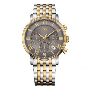 Hugo Boss Silver/Gold Grey Dial Watch