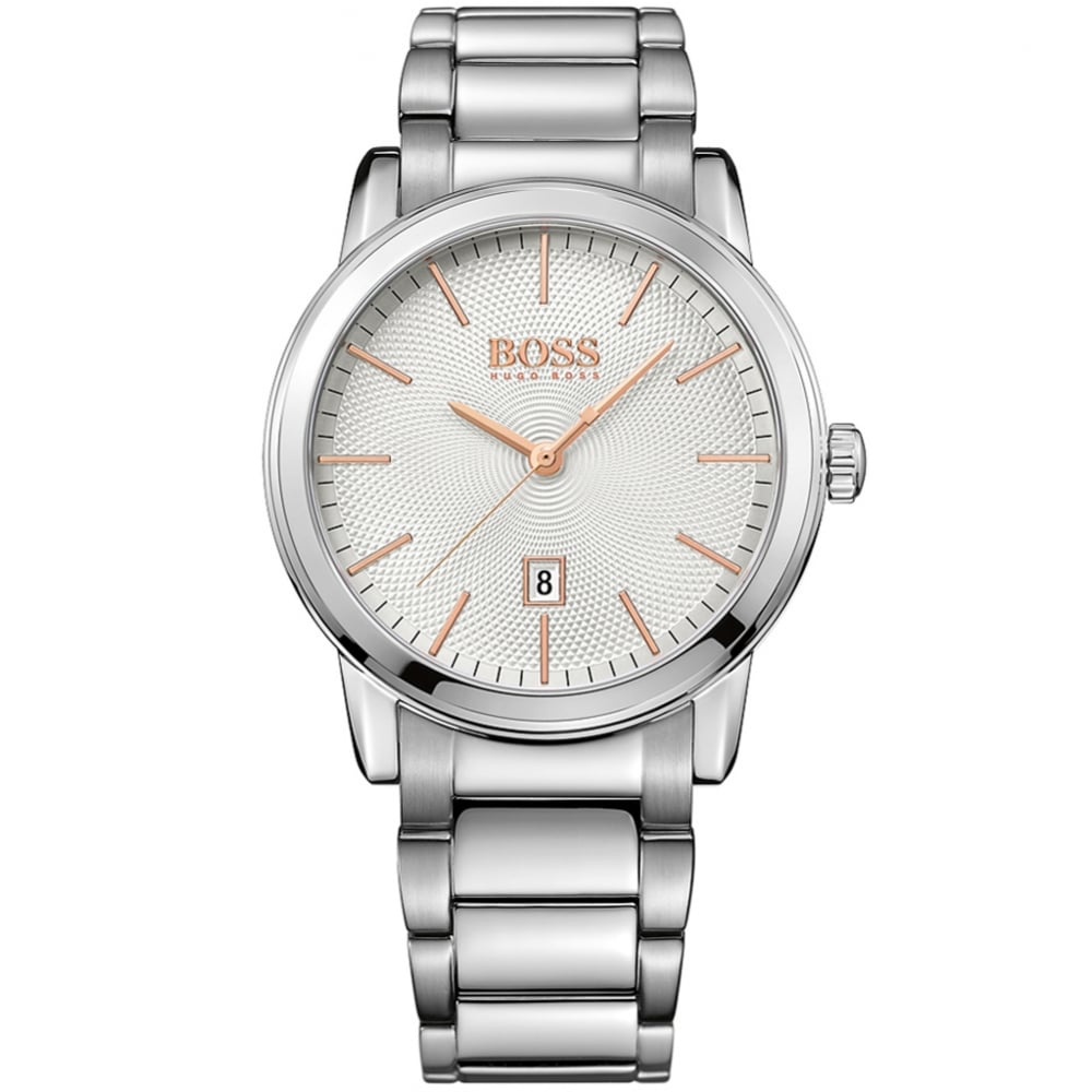 Hugo Boss Watches Hugo Boss Silver Rose Gold Detail Watch Men From