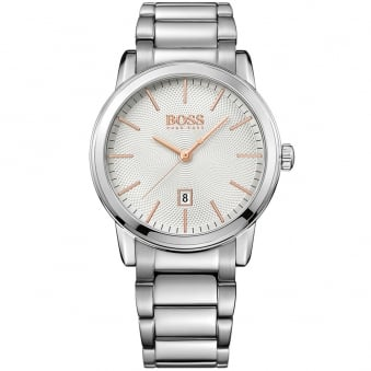 Hugo Boss Silver/Rose Gold Detail Watch