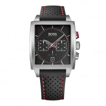 Hugo Boss Black Rubber Square Dial Watch