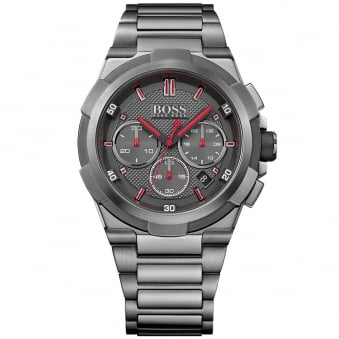 Hugo Boss Dark Silver Black Dial Watch