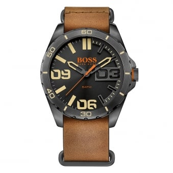 Hugo Boss Orange Brown Buckle Strap Watch