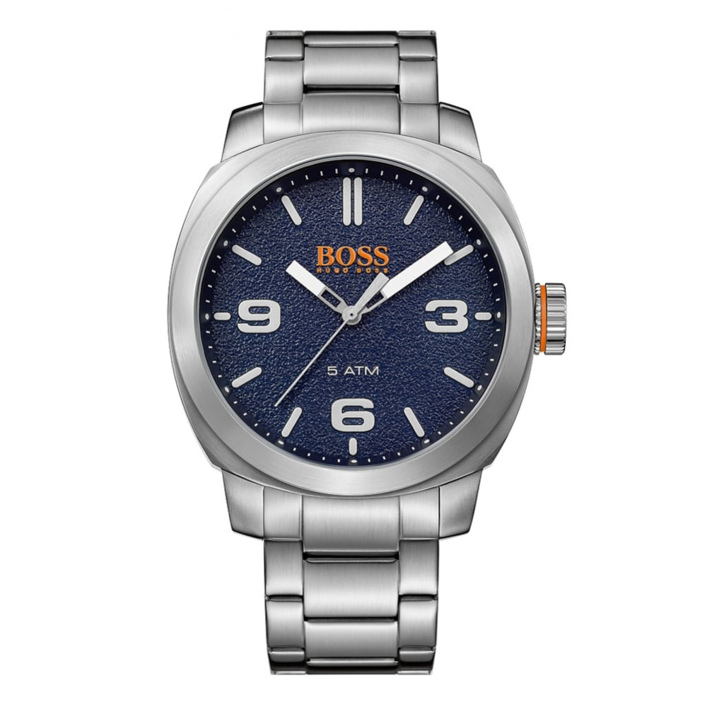 343f53037bc HUGO BOSS WATCHES Hugo Boss Orange Silver Blue Dial Watch - Men from ...