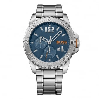 Hugo Boss Orange Silver Compass Bezel Watch