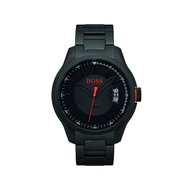 HUGO BOSS WATCHES Mens Hugo Boss Orange Matte Black Effect Watch