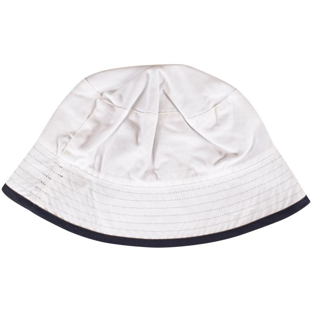 2b7972d8c5e HUGO BOSS Hugo Boss White Navy Reversible Bucket Hat - Men from ...