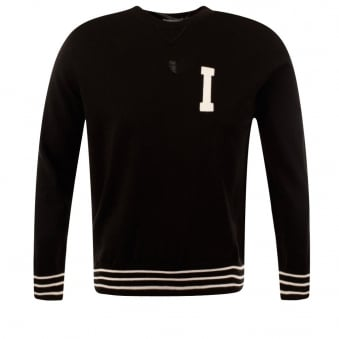 Iceberg Black Knitted Crew Neck Sweatshirt