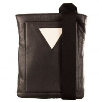 Iceberg Black Premium Leather Cross Body Bag