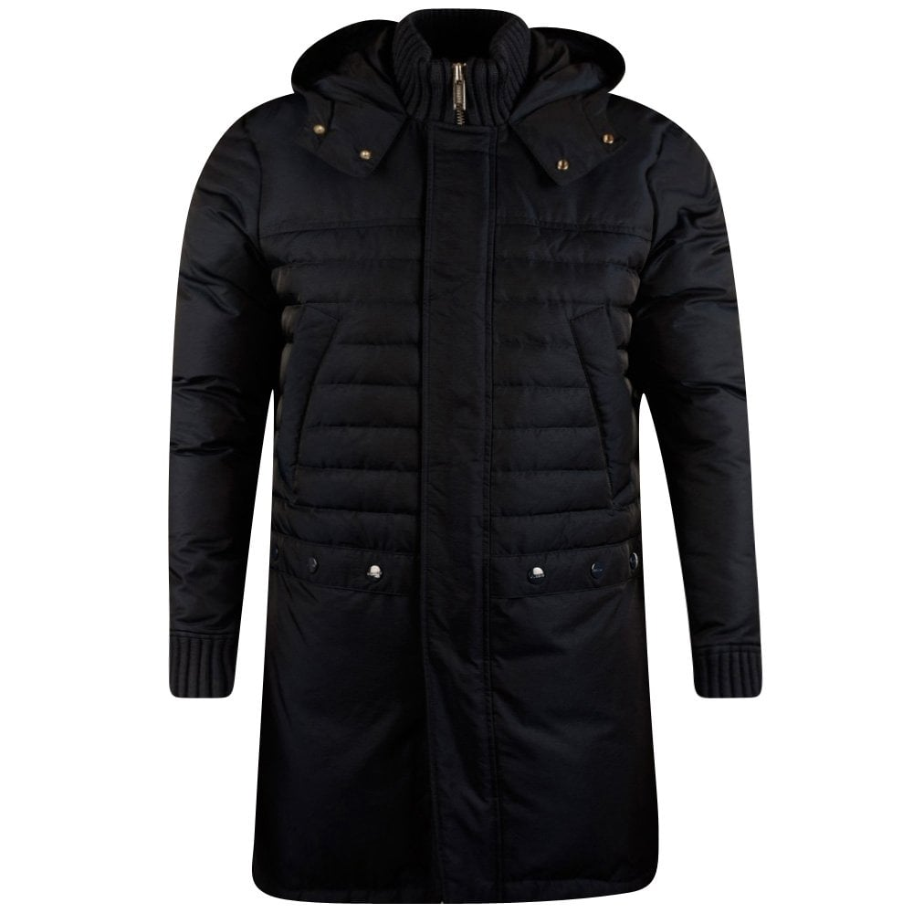d47fa4d9b ICEBERG Iceberg Navy Long Quilted Puffer Jacket