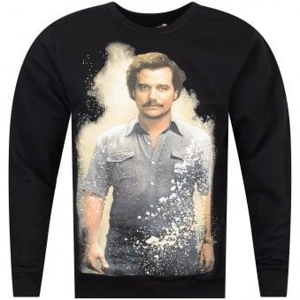 Ih Nom Uh Nit Black Jersey Pablo Print Sweatshirt
