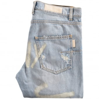 Ih Nom Uh Nit Light Blue Distressed Jeans