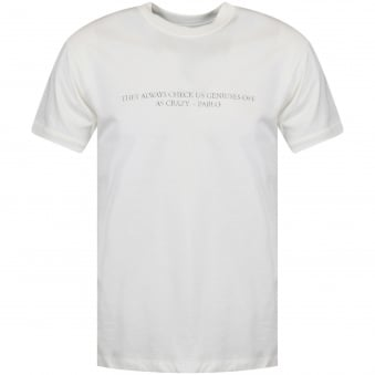 Ih Nom Uh Nit Off White Jersey Pablo Slogan Print T-Shirt