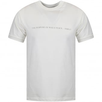 Ih Nom Uh Nit Off White Jersey 'The Purpose Of War Is Peace' T-Shirt