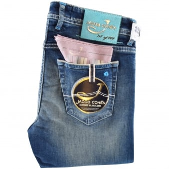 Jacob Cohen Blue Limited Edition Slim Fit Jeans