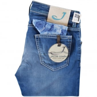 Jacob Cohen Blue Tailored Fit Jeans
