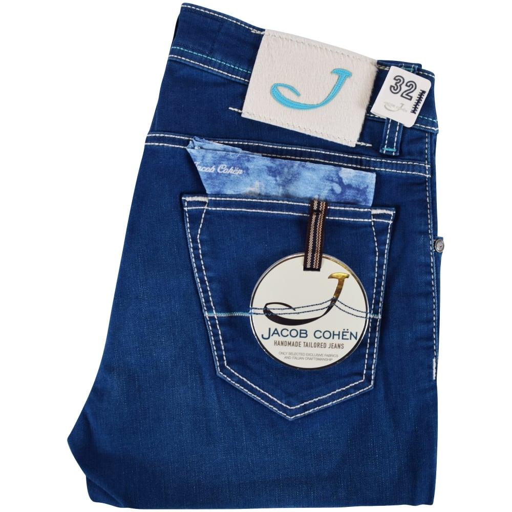 4e6e3ae2db3870 JACOB COHEN Jacob Cohen Blue Wash Slim Fit Jeans - Men from ...