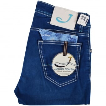 Jacob Cohen Blue Wash Slim Fit Jeans
