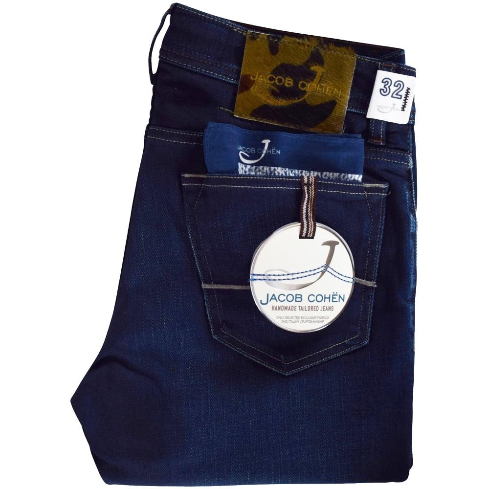 69c03044fc28b6 JACOB COHEN Jacob Cohen Camo Dark Wash Slim Fit Jeans - Men from ...